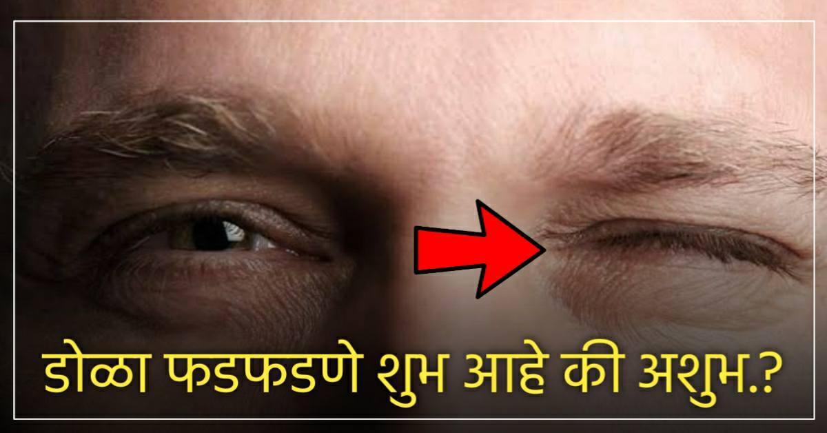 डोळा फडफडण्याचे नेमके काय आहेत संकेत.? माणूस करोडपती होतो कि भिकारी..?