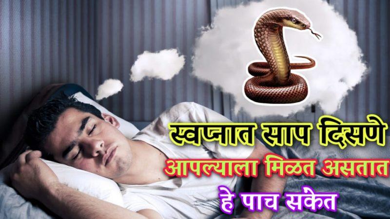 तुम्हालाही स्वप्नात साप दिसतात का.? यामागील अर्थ जाणून घेण्यासाठी ही माहिती अवश्य वाचा.!